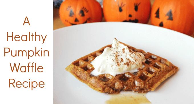 A Healthy Pumpkin Waffle