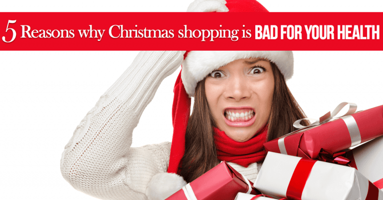Christmas shopping is bad for your health
