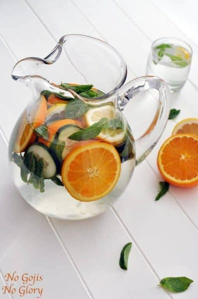 cucumber orange water
