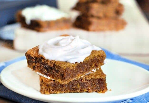 healthy pumpkin cheese bars