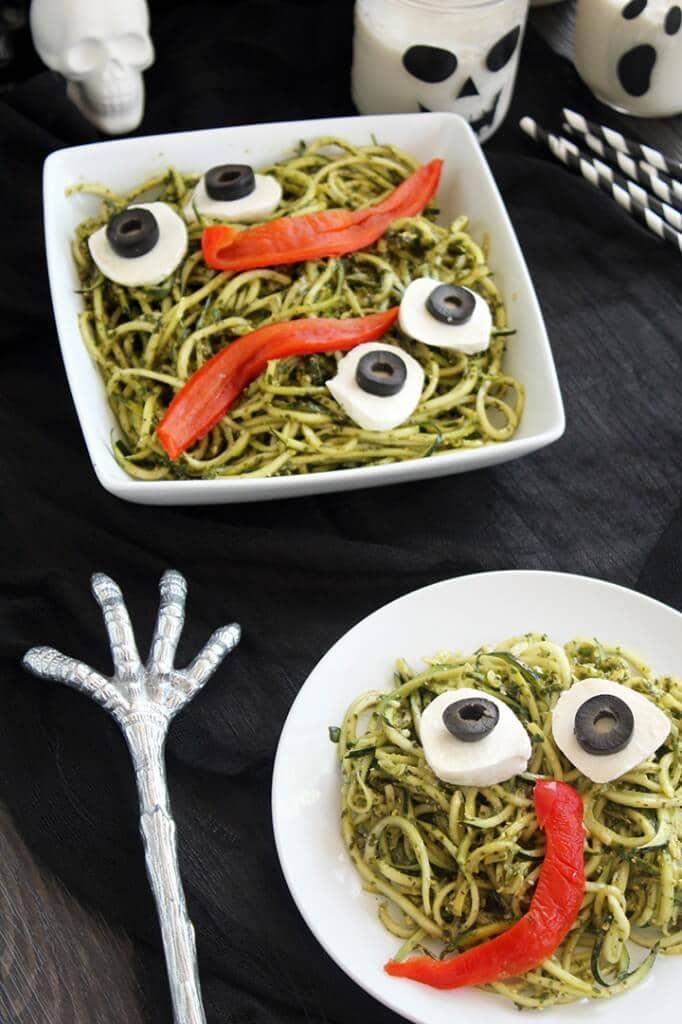 monster zucchini pesto noodles