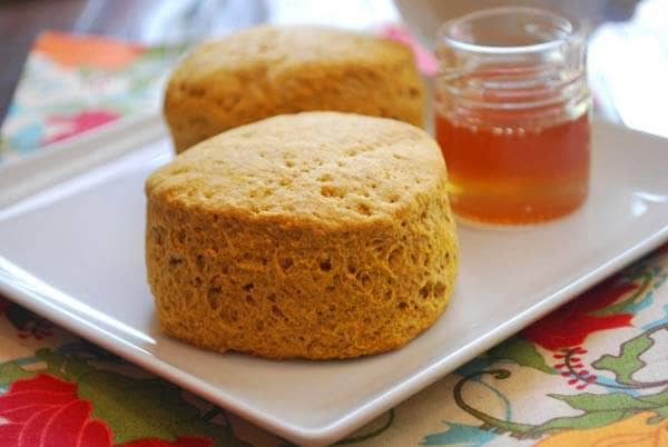 Whole-Wheat Pumpkin Biscuits