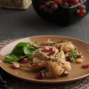 Roasted Quail with Muscadines
