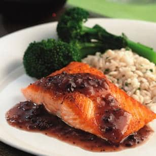 Salmon with Red Wine