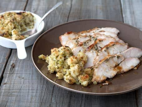Roast Turkey Breast with Sage and Vegetable Stuffing