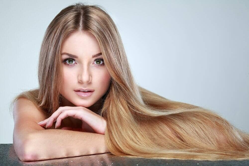Beautiful hair achieved with argan oil