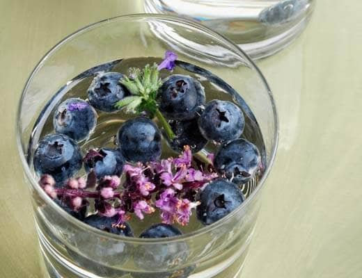 Blaubeer-Lavendel-Wasser