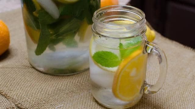 Citrus and Mint Infused Water