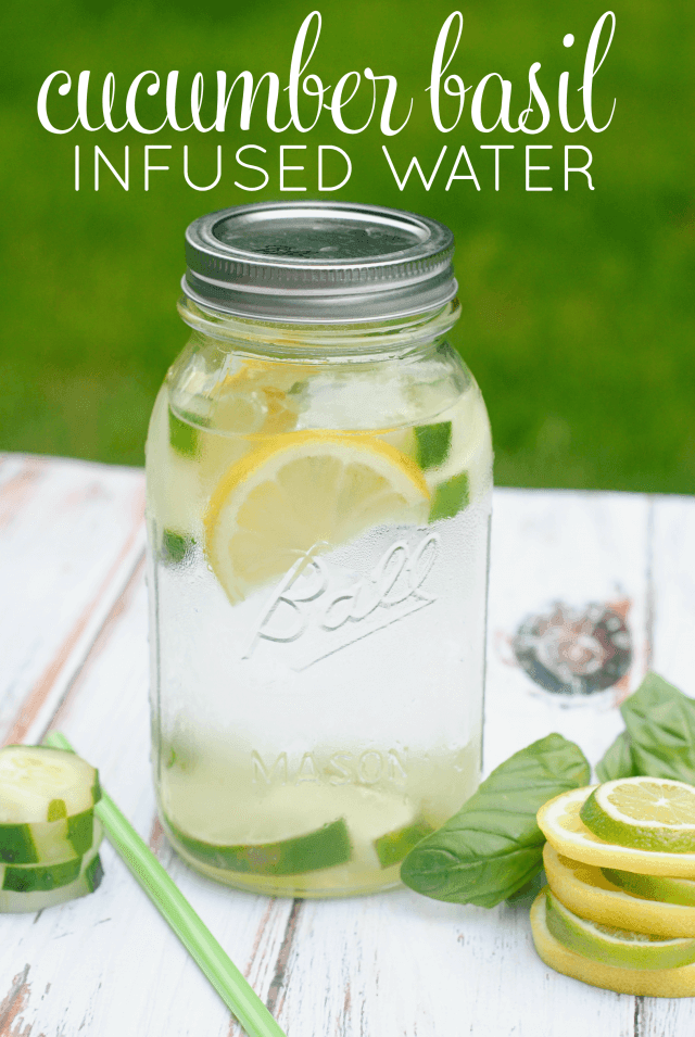 Cucumber Basil Infused Water