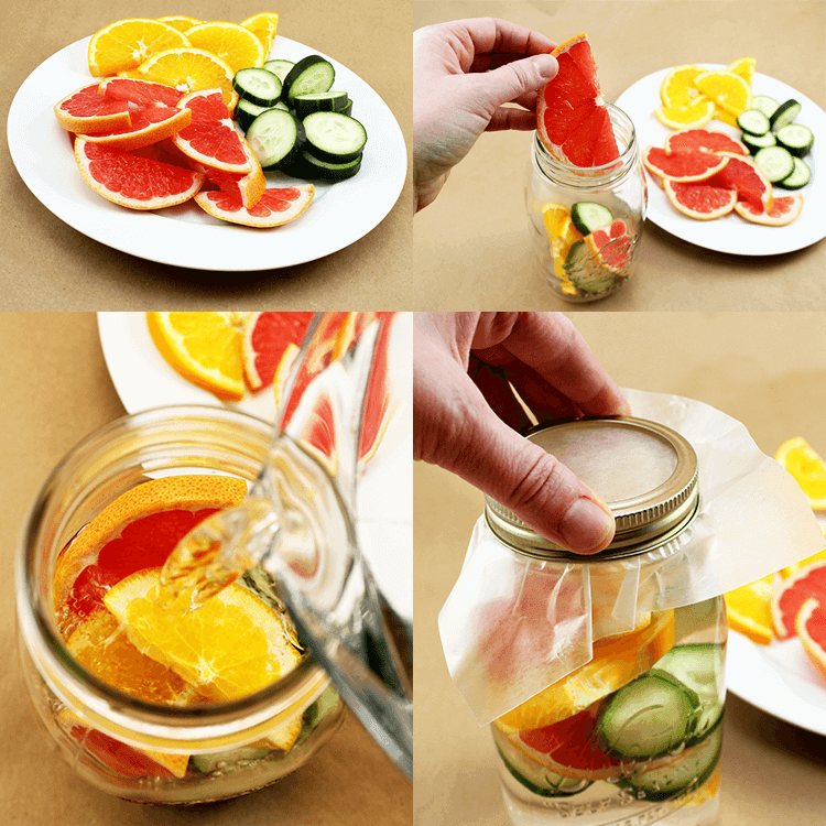 Grapefruit, Orange and Cucumber Detox Water