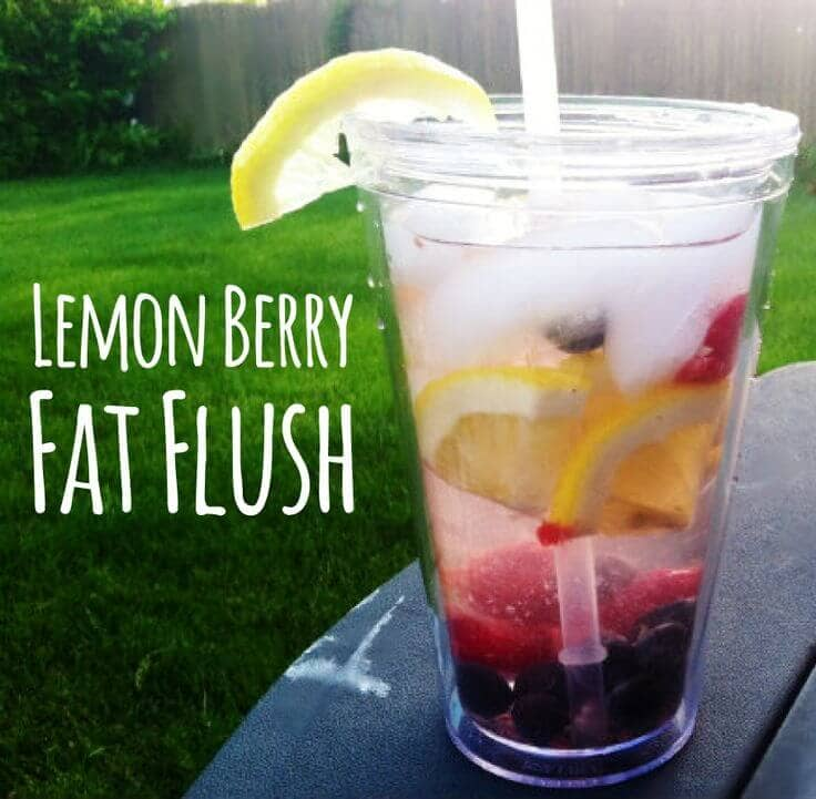 Lemon Berry Fat Flush Water