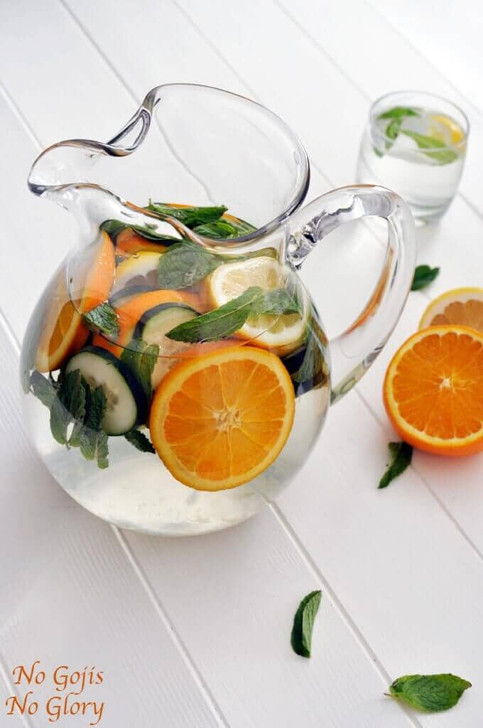 Refreshing Citrus and Cucumber Detox Water