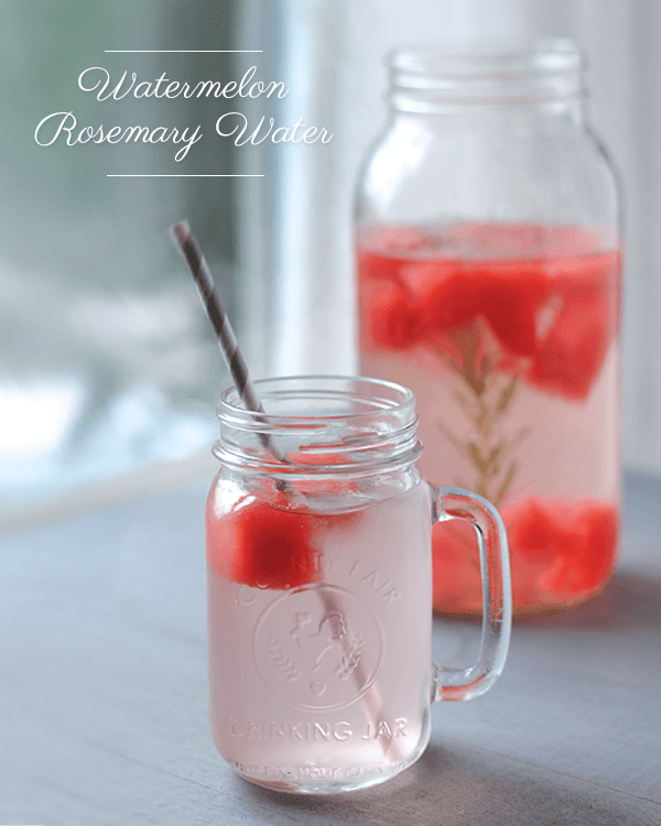 Watermelon Rosemary Water