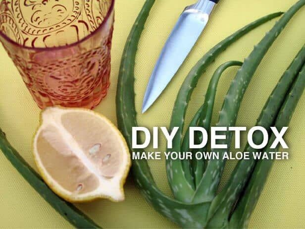 DIY detox aloe water