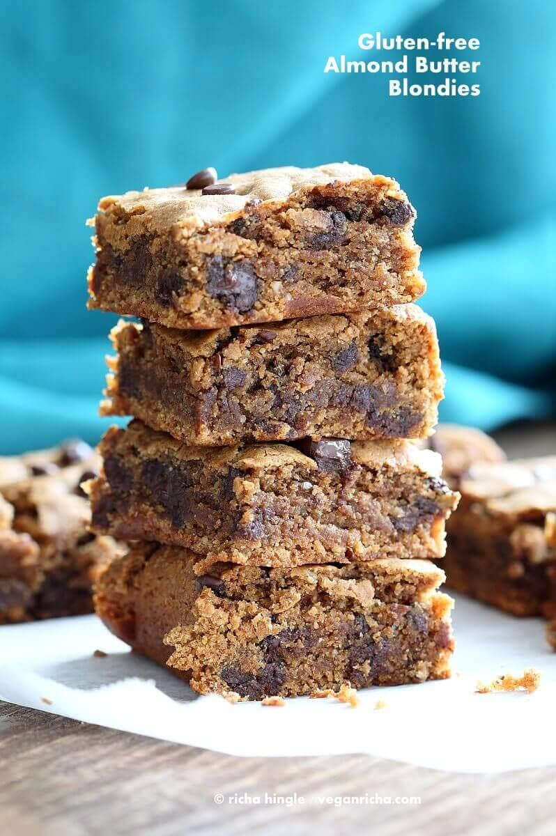 Gluten-Free Almond Butter Blondies