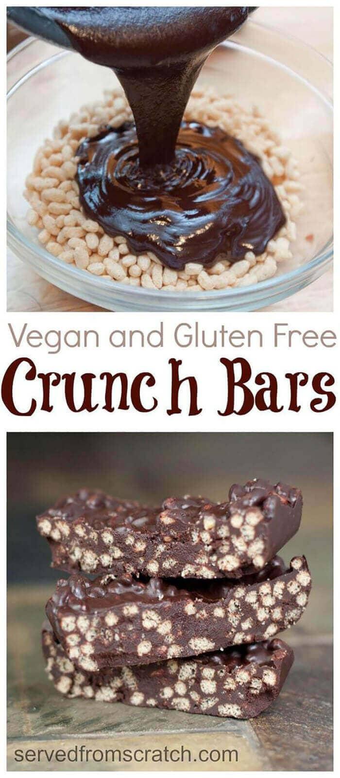 Vegan Chocolate Crunch Bars