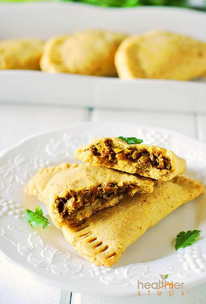Jamaican Lentil Patties (Gluten Free, Vegan)