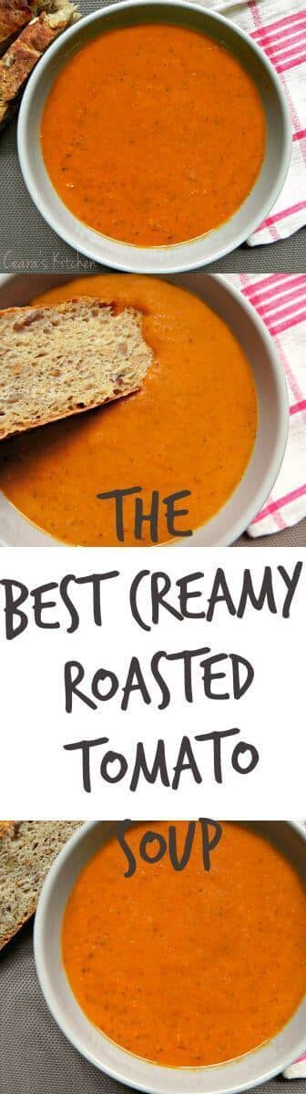 The Best Creamy Roasted Tomato Soup