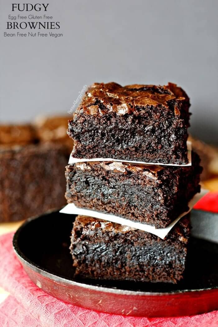 Fudgy Gluten-Free Egg-Free Brownies