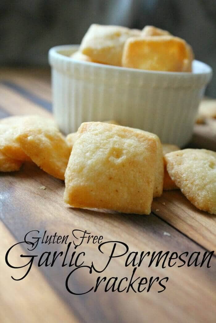 Gluten-Free Garlic Parmesan Crackers