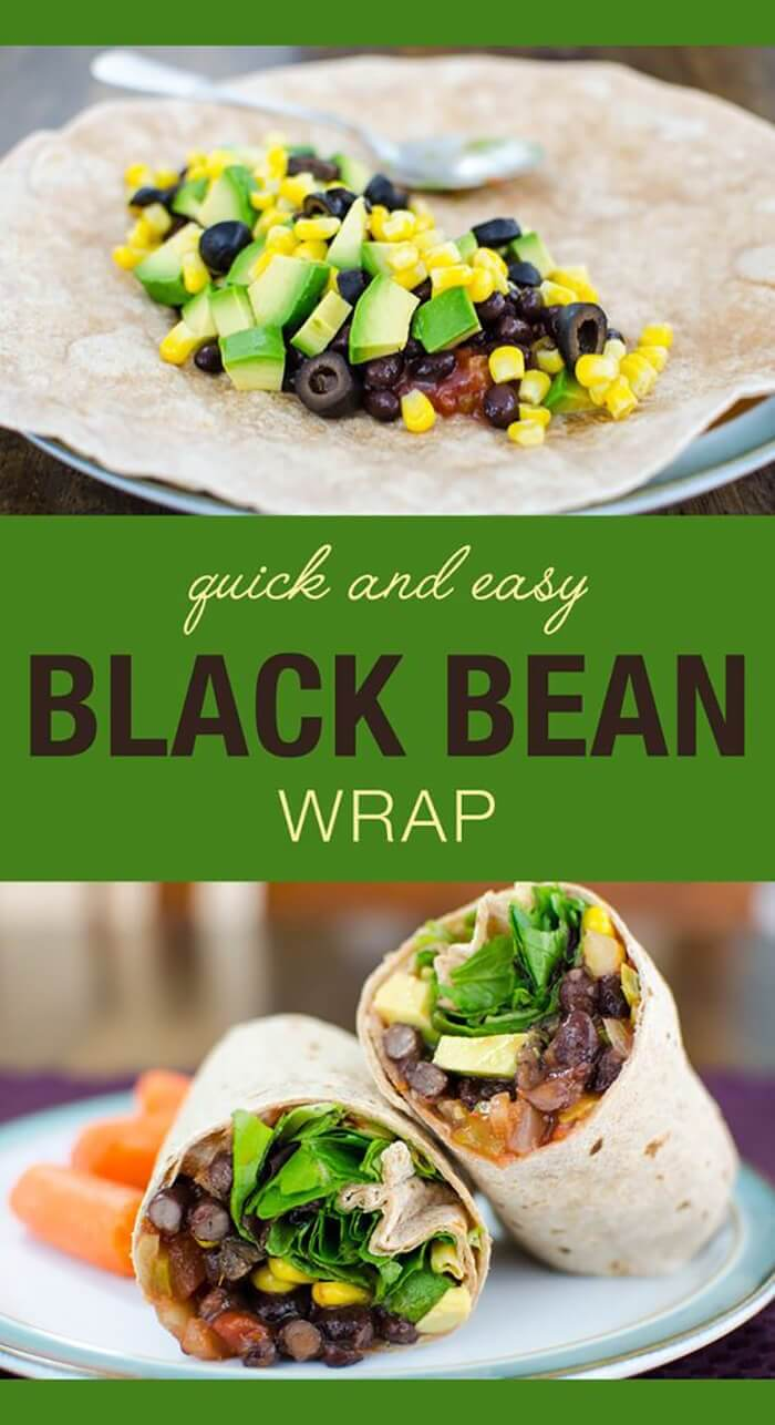 Black Bean Wrap