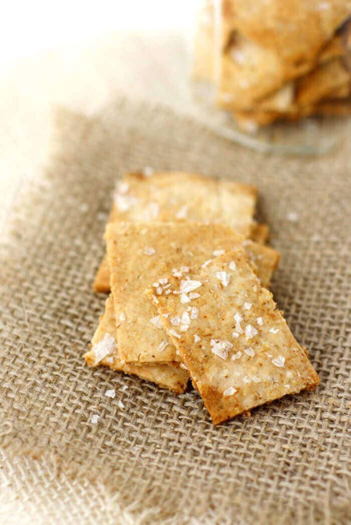 Easy Oatmeal Crackers (Gluten-Free and Vegan)