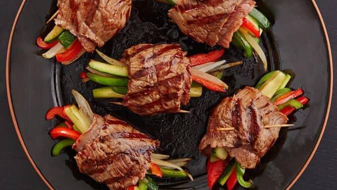 Balsamic-Glazed Steak Rolls