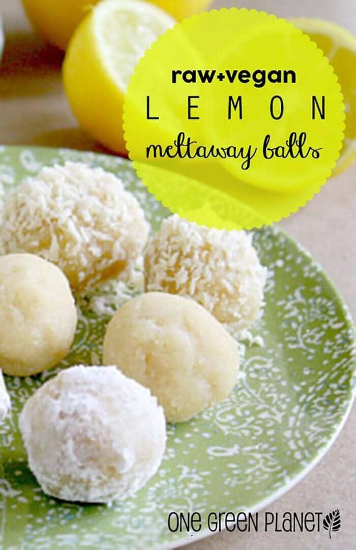 Raw Lemon Meltaway Balls