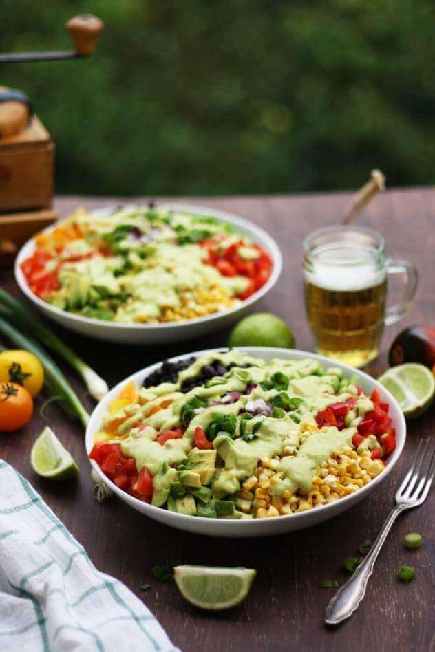 Vegan Mexican Chopped Salad with Avocado