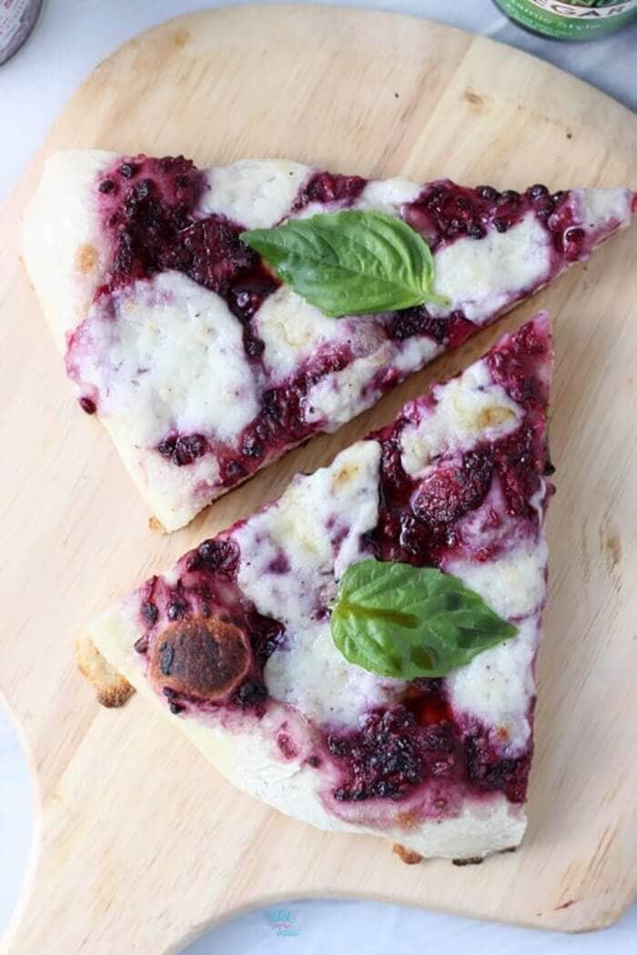 Blackberry Basil Pizza