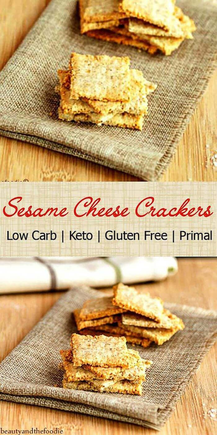 Sesame Cheese Crackers Low-Carb