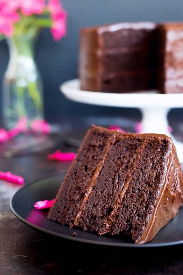 Gluten-Free Three Layer Chocolate Cake