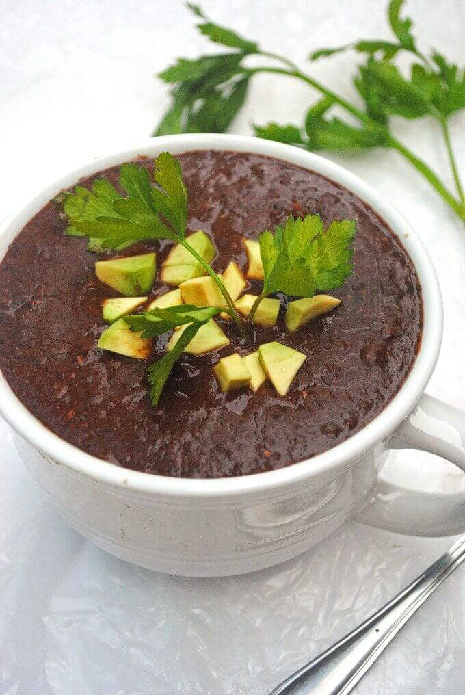 Vegan Slow Cooker Black Bean Soup