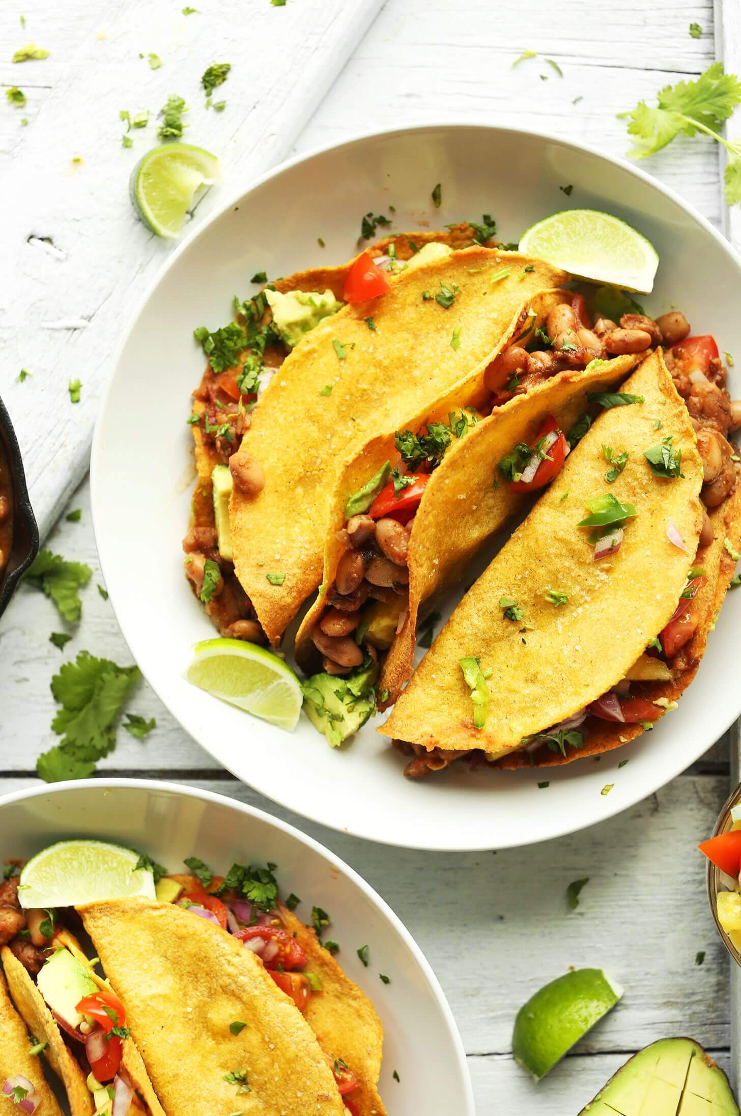 Crispy Baked Tacos with Pineapple Salsa