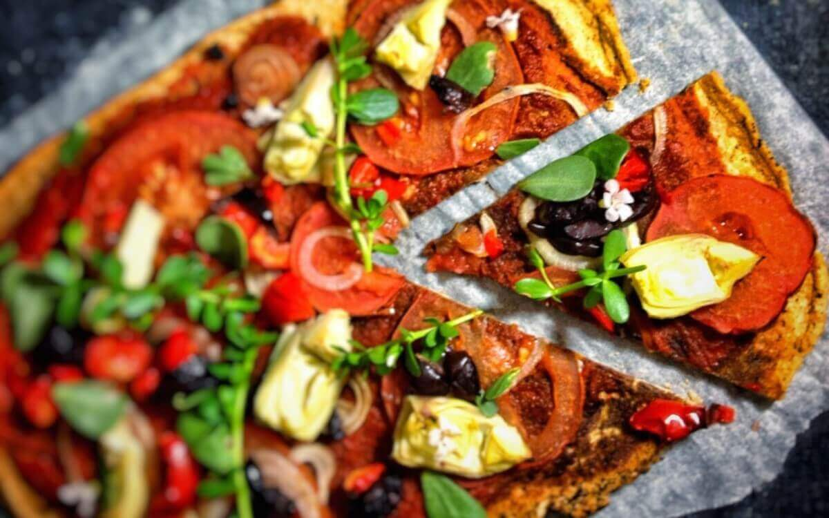 Vegan Pizza with a Lentil Crust
