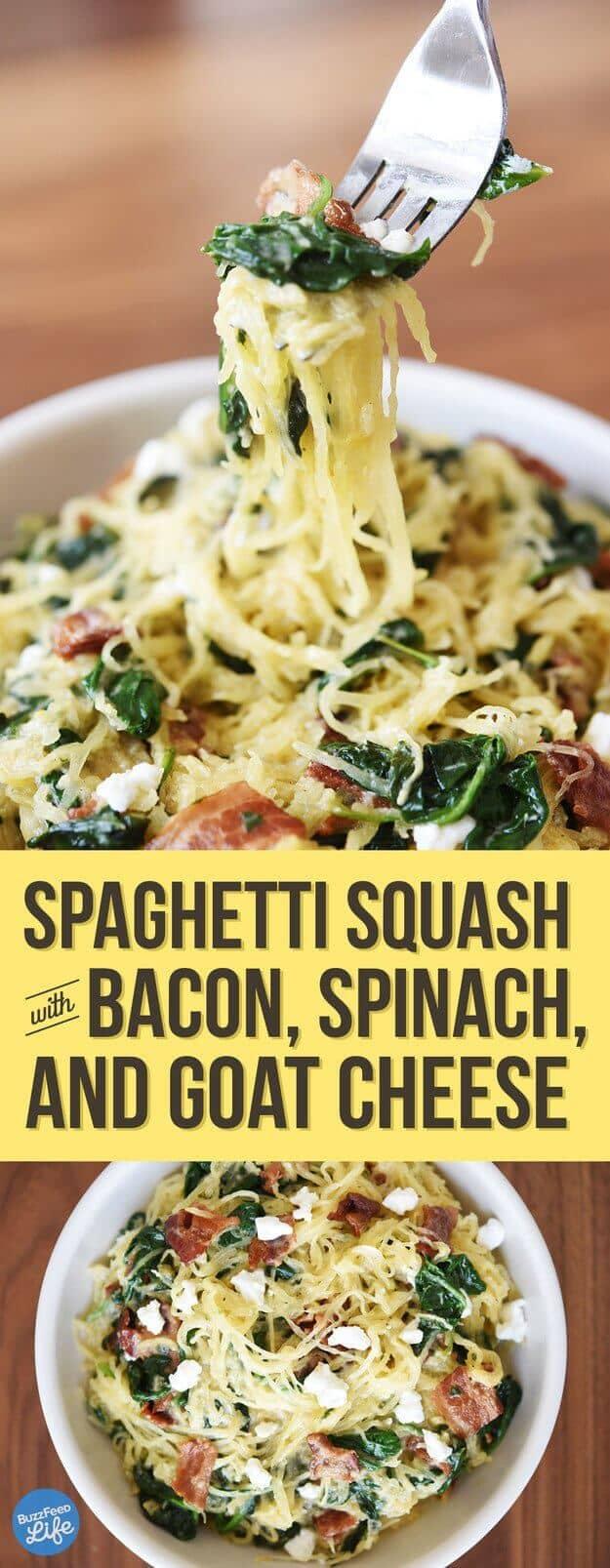 Spaghetti Squash and Bacon Dish