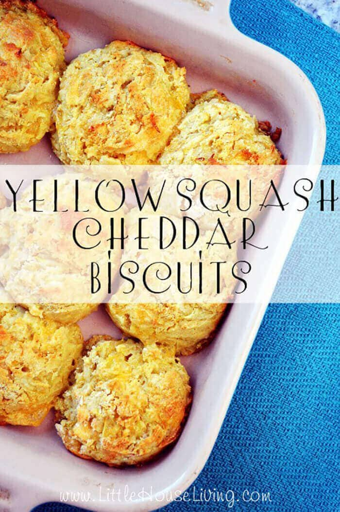 Yellow Squash Chedder Biscuits