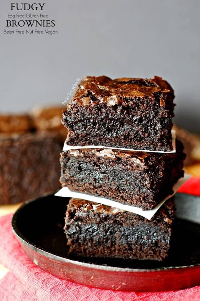 Fudgy Gluten-Free Egg Free Brownies