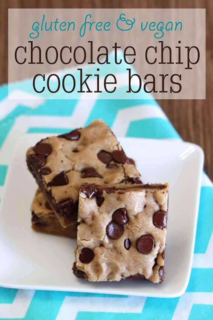 Gluten-Free Vegan Chocolate Chip Cookie Bars