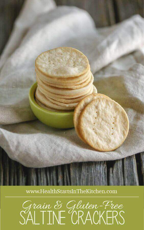 Homemade Grain and Gluten-Free Saltine Crackers