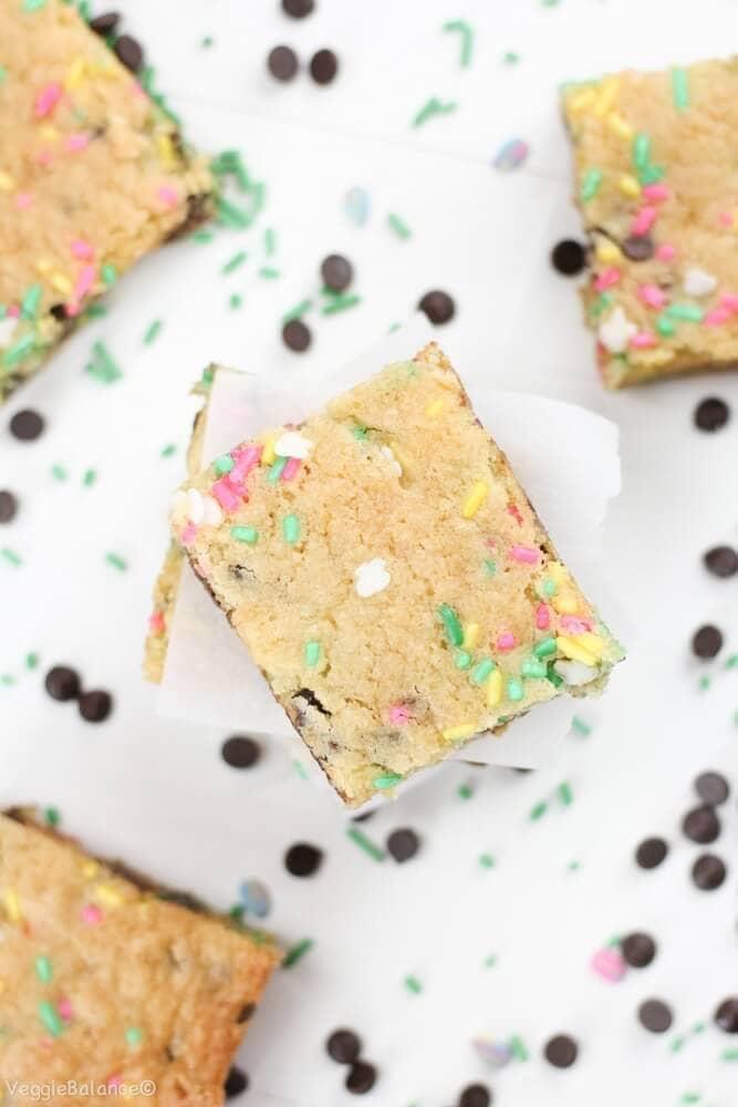 Cake Batter Blondies (Gluten-Free & Dairy-Free)