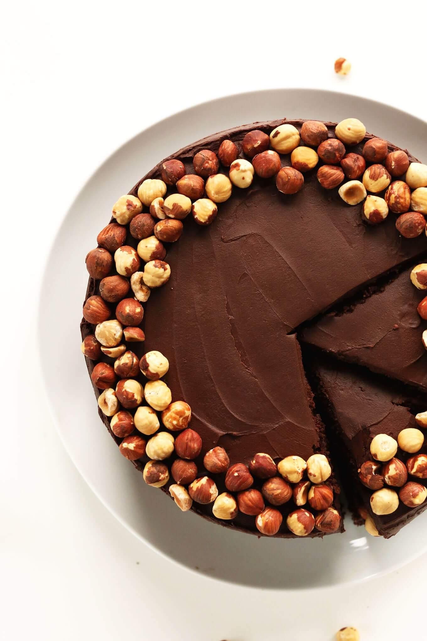 One Bowl Chocolate Hazelnut Cake