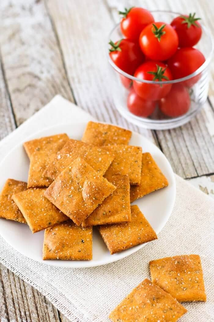 Gluten-Free Vegan Pizza Crackers