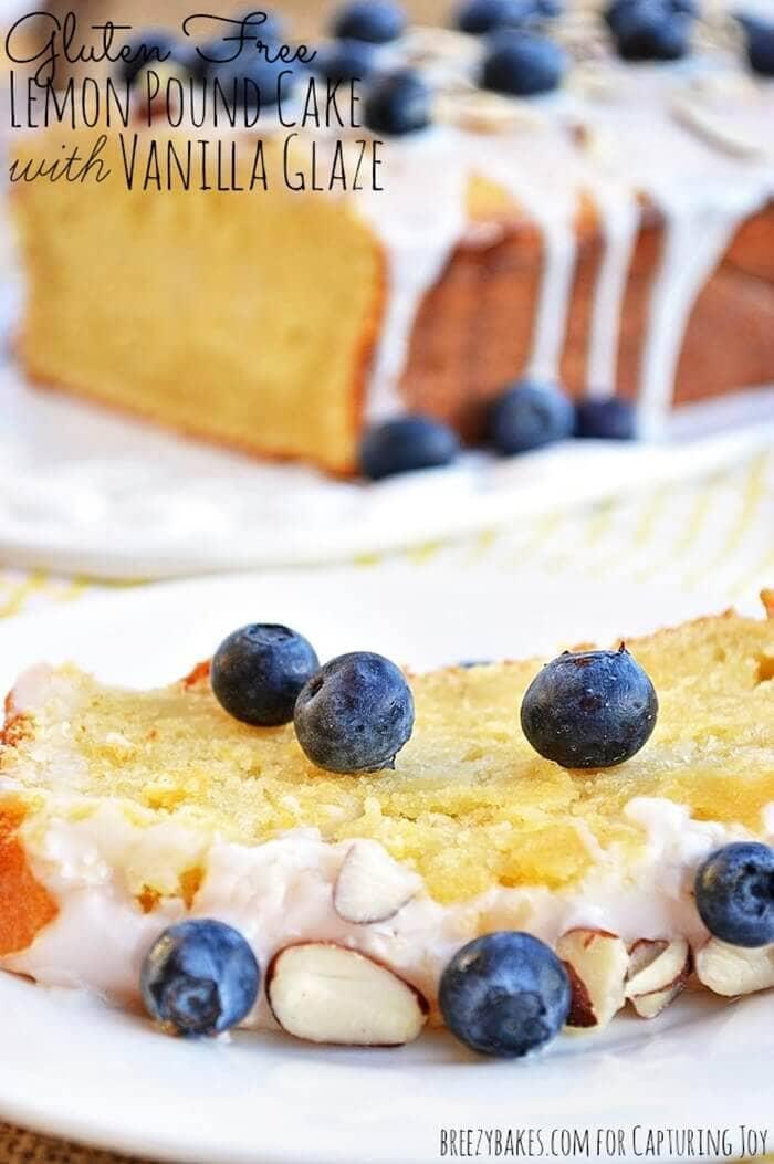 Gluten-Free Lemon Pound Cake with Vanilla Glaze