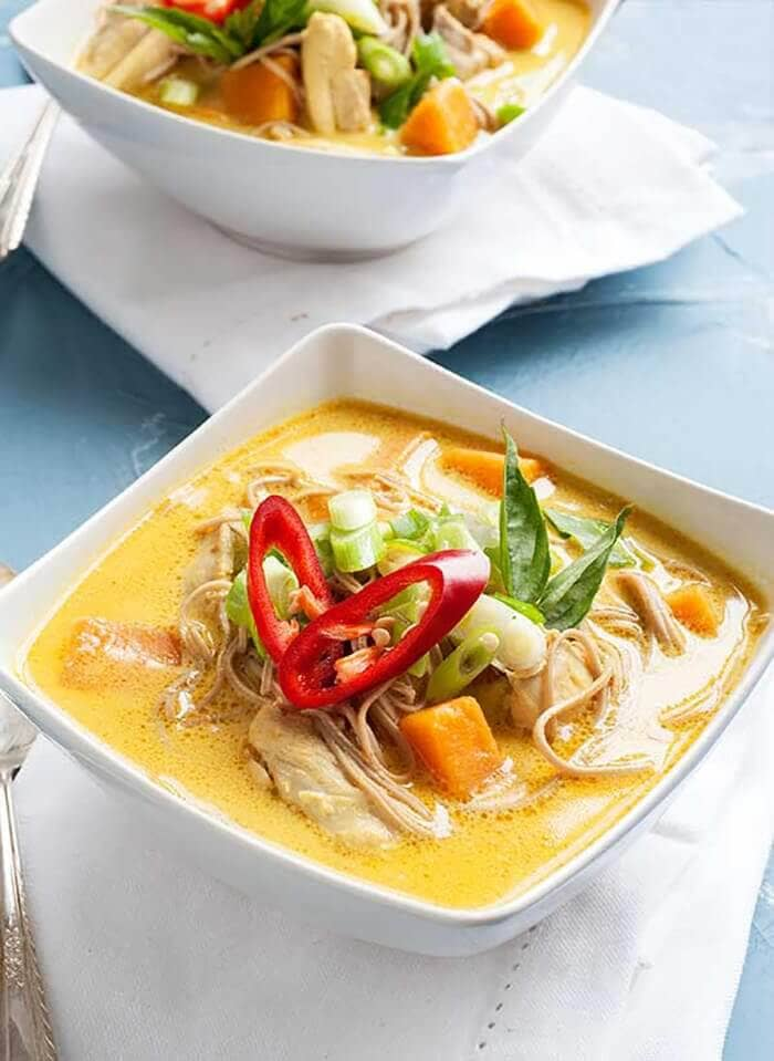 Gluten Free Curry Noodle Soup Recipe