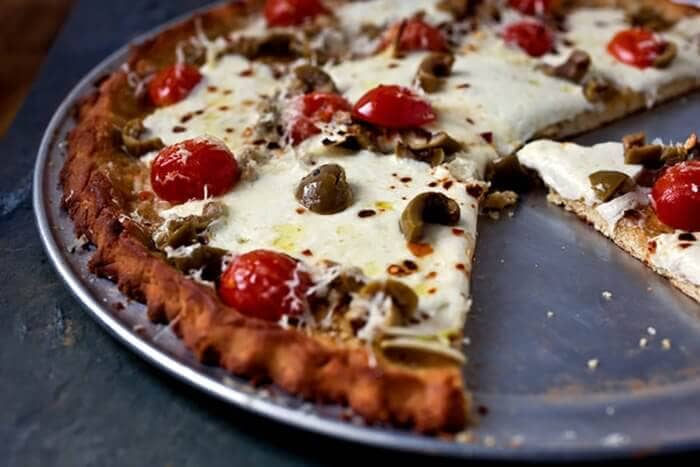 Mushroom and Tomato Gluten-Free Pizza