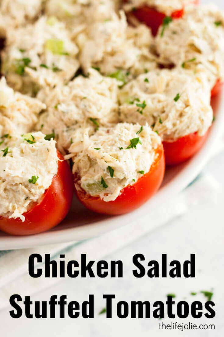 Chicken Salad Stuffed Tomatoes