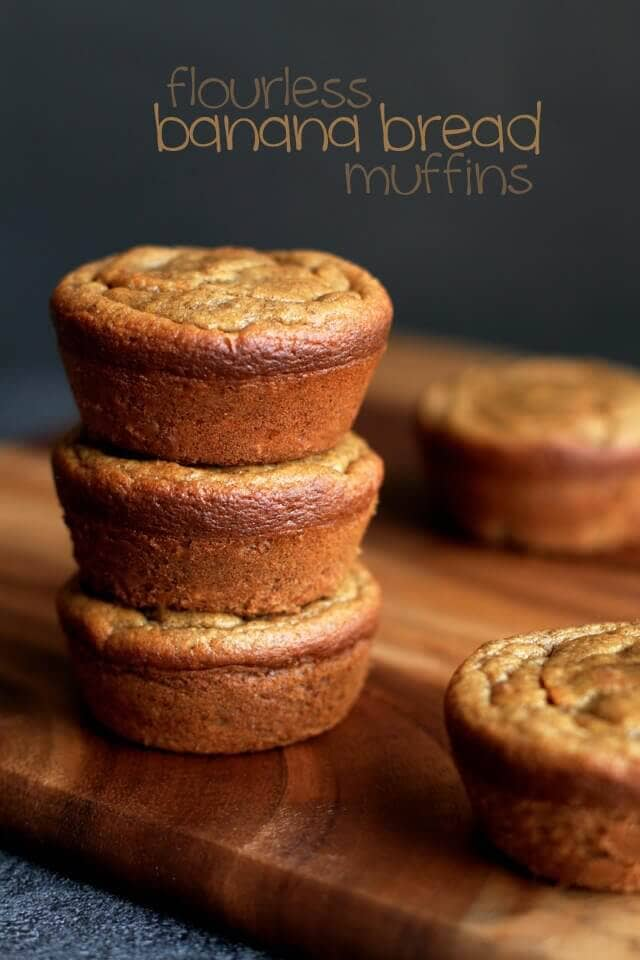 Flourless Banana Bread Muffins