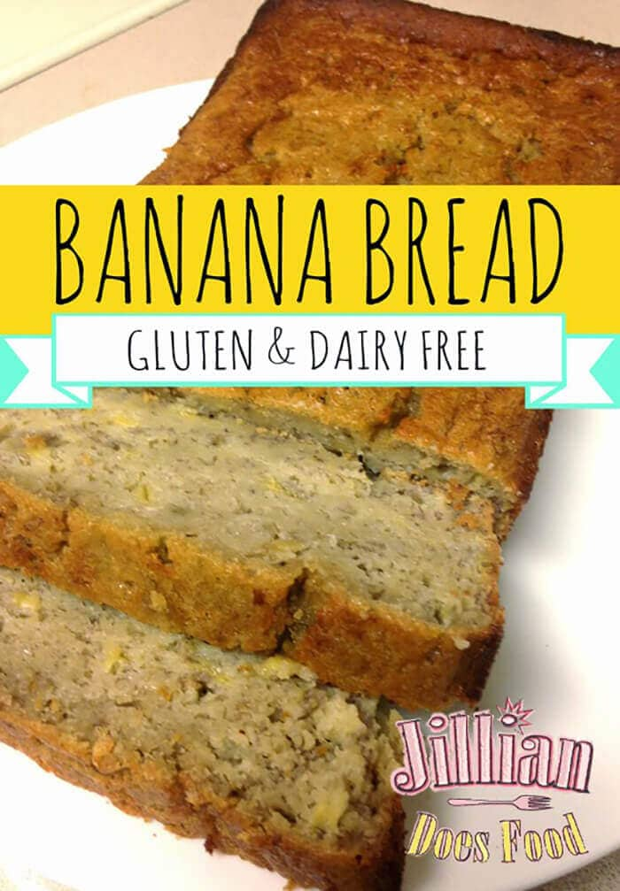 Moist, Gluten and Dairy Free Banana Bread