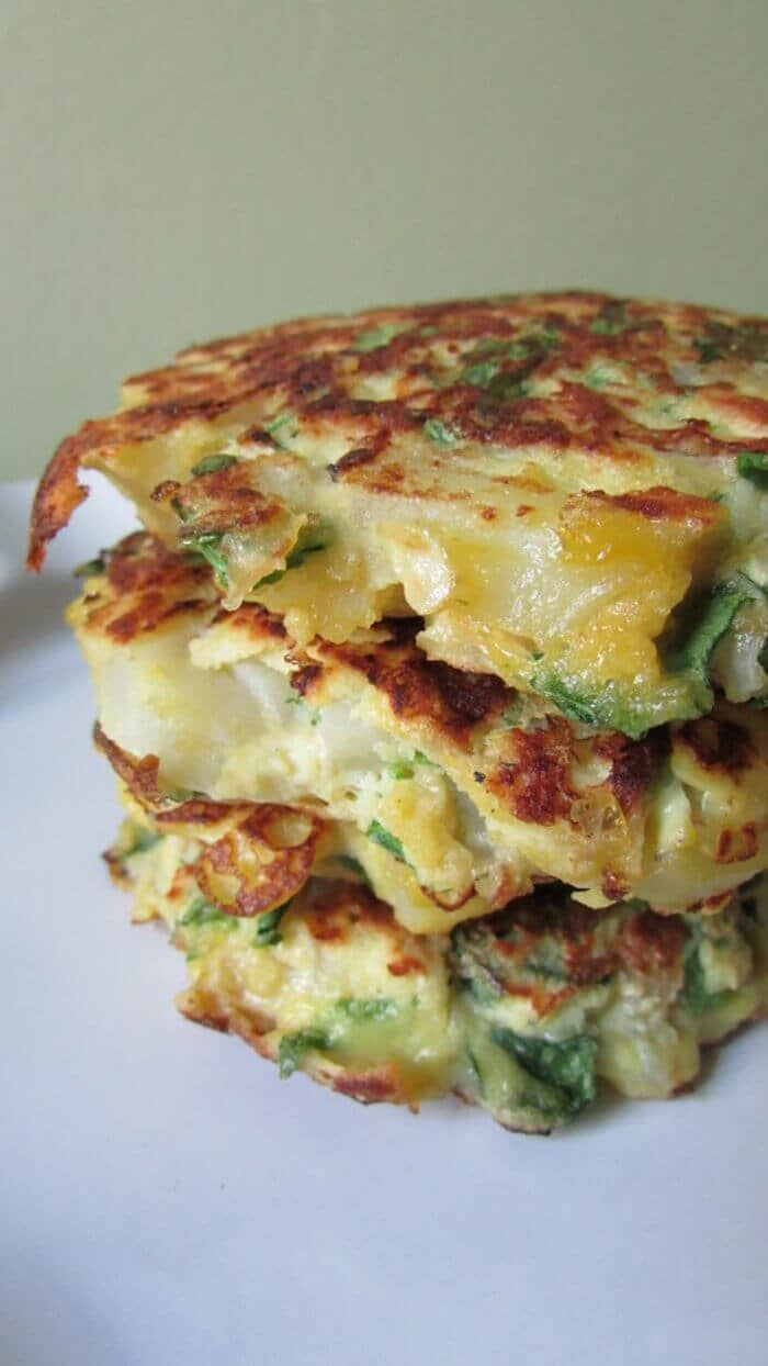 Spinach Potato Pancakes